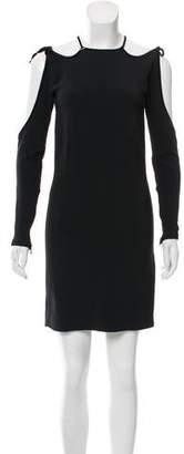Tom Ford Velvet Trimmed Cutout Dress