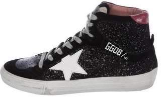 Golden Goose Glitter Low-Top Sneakers