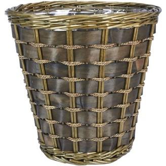 Household Essentials Medium Haven Willow and Poplar Waste Basket