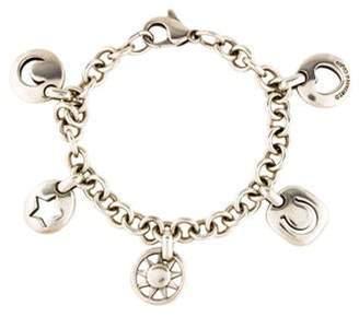 Tiffany & Co. Stencil Charm Bracelet silver Stencil Charm Bracelet