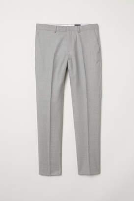 H&M Wool Suit Pants Slim fit - Gray