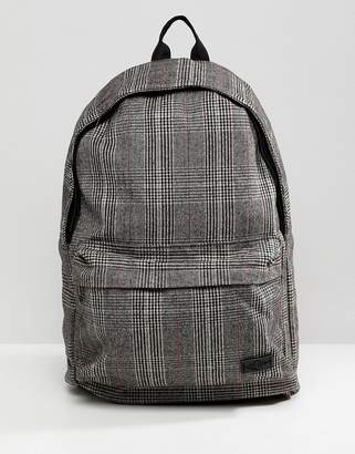 New Look backpack in brown check