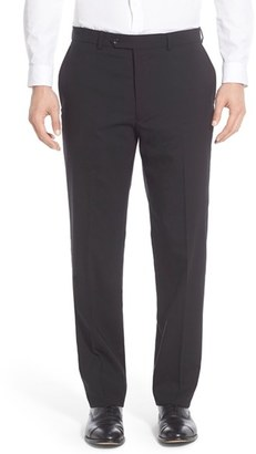 Men's Hart Schaffner Marx Flat Front Solid Stretch Wool Trousers $150 thestylecure.com