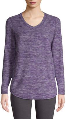 ST. JOHN'S BAY SJB ACTIVE Active Womens V Neck Long Sleeve Sweatshirt