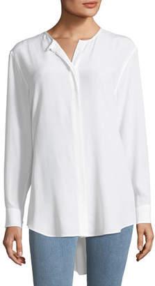 Equipment Crewneck Long-Sleeve Silk Tunic