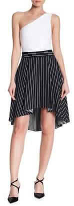 Alice + Olivia Katia Stripe Hi-Lo Skirt