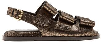 Marni Triple-bow slingback leather sandals