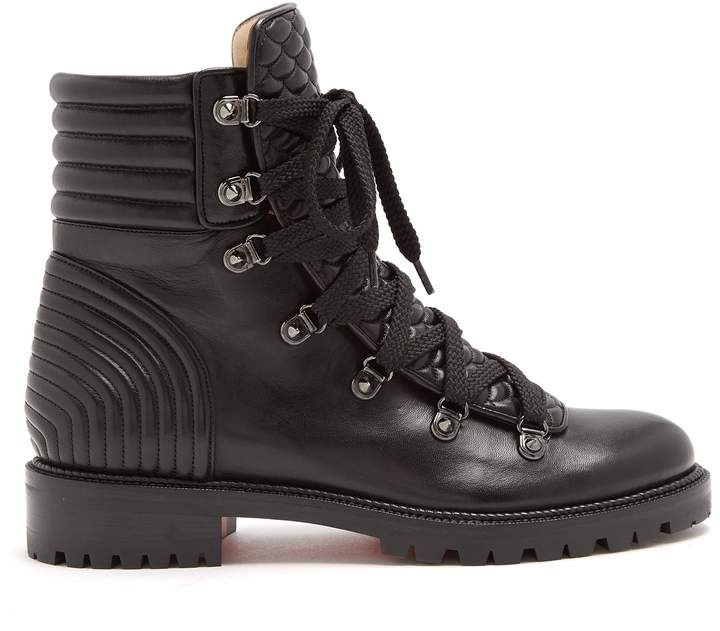 CHRISTIAN LOUBOUTIN Mad lace-up leather ankle boots