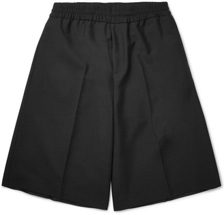 Acne Studios Ryder Wool and Mohair-Blend Bermuda Shorts $240 thestylecure.com