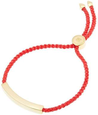 Monica Vinader Gold-Plated Coral Cord Linear Friendship Bracelet