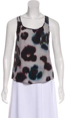 AllSaints Silk Sleeveless Printed Blouse