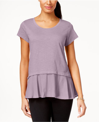 Style & Co Layered-Look Peplum T-Shirt, Only at Macy's $34.50 thestylecure.com