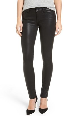 PAIGE Verdugo Coated Ankle Skinny Jeans (Black Fog Luxe Coated) $219 thestylecure.com