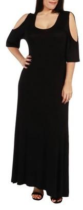 24/7 Comfort Apparel Meg Plus Size Maxi Dress
