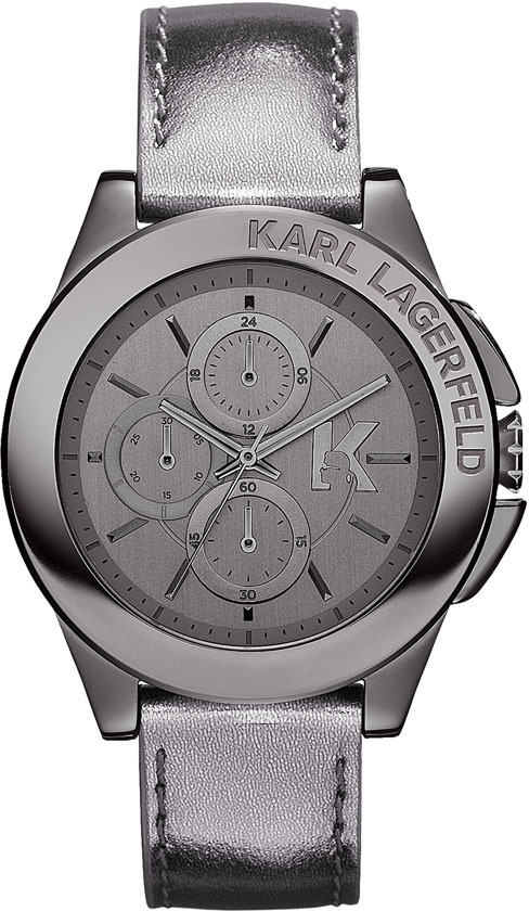 Karl Lagerfeld 'Energy' Chronograph Leather Watch, 40mm