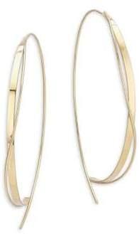 Lana 15-Year Anniversary 14K Yellow Gold Large Crisscross Upside Down Hoop Earrings