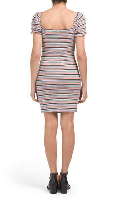 Juniors Candy Stripe Bodycon Dress