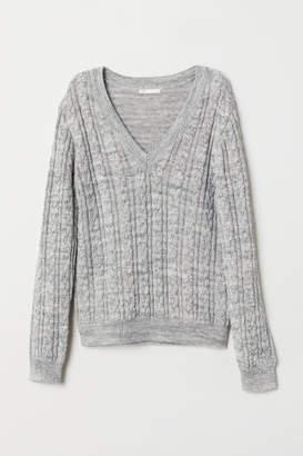 H&M V-neck Sweater - Gray