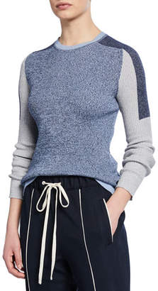 Rag & Bone Tia Colorblock Crewneck Rib Sweater