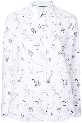 Paul Smith sketchbook conversational printed shirt