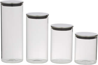 clear Davis & Waddell 4 Piece Glass Canister Set