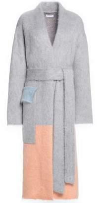 Vionnet Color-Block Mohair-Blend Coat