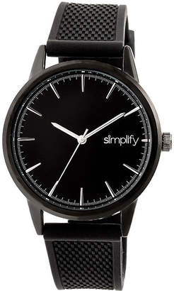 Simplify Mens Black Strap Watch-Sim5205