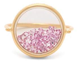 Aurelie Bidermann Fine Jewellery Fine Jewellery - Chivor Sapphire & 18kt Gold Ring - Womens - Pink