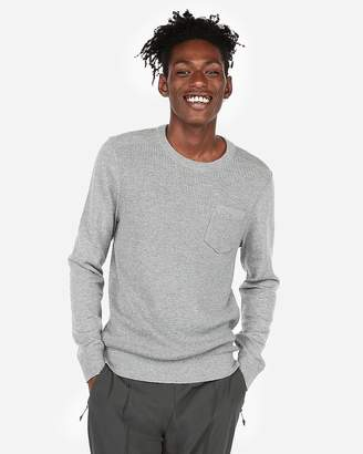 Express Textured Crew Neck Sweater