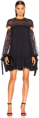 Jonathan Simkhai Embroidered Cut Out Sleeve Doll Dress