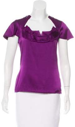 Zac Posen Cap Sleeve Silk Top