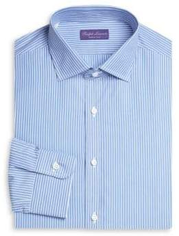 8fd927c9d Ralph Lauren Purple Label Men's Slim-Fit Bond Barrel Stripe Dress Shirt -  Blue White