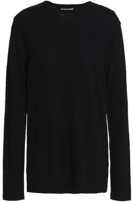 Zoe Karssen Distressed Slub Cotton-Jersey Top