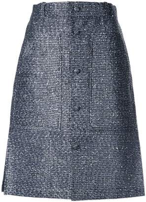 Julien David buttoned A-line skirt