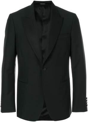 Alexander McQueen one button blazer