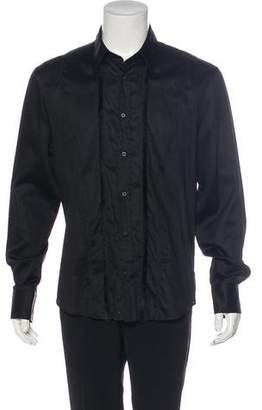 Just Cavalli Fringe-Trimmed Dress Shirt