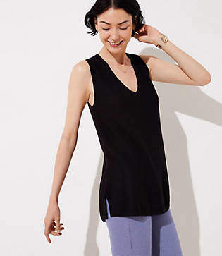 LOFT V-Neck Sweater Tank