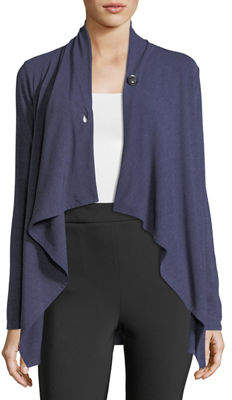 Neiman Marcus Long-Sleeve Wrap Cardigan