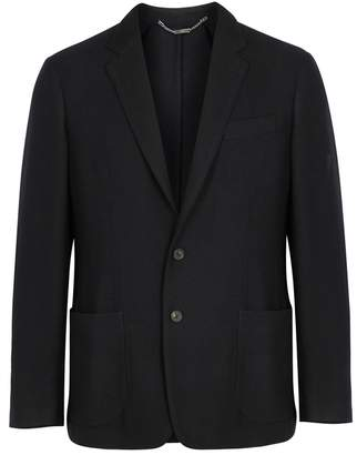Corneliani Black Textured Wool Blazer