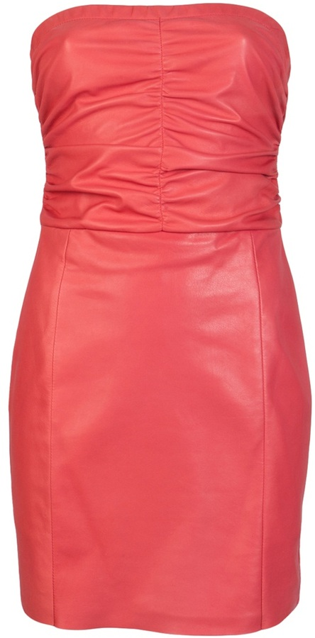 Drome STRAPLESS LEATHER DRESS