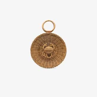 Aranaz Malia round woven-straw tote