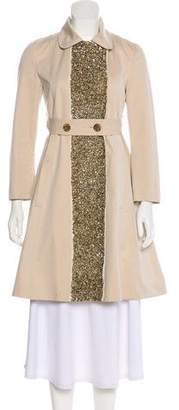 Gryphon Embellished Trench Coat