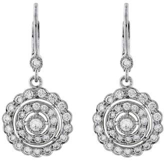 Couture Sethi Scalloped Round Diamond Drop Earrings