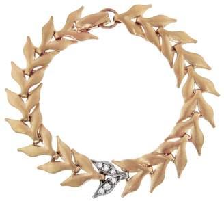 Cathy Waterman Diamond Flex Wheat Bracelet - Rose Gold