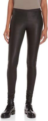 Rick Owens Black Leather Leggings