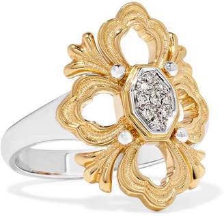 Buccellati Opera 18-karat Yellow And White Gold Diamond Ring