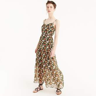 J.Crew Petite Mercantile tiered maxi dress in sweet pea floral