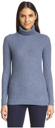 Society New York Women's Cashmere Ribbed Turtleneck