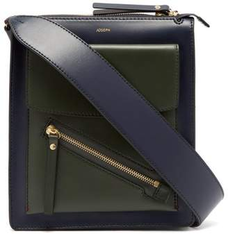 Joseph Mortimer Leather Shoulder Bag - Womens - Green Navy