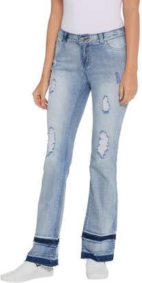 Peace Love World 5-Pocket Layered Hem Jeans